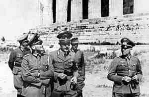 Nazi officers at the Acropolis of Athens in May 1941, one month after their troops seized the Greek capital