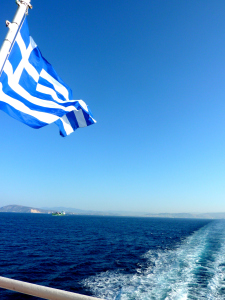 Welcome to Greece - Greek Flag